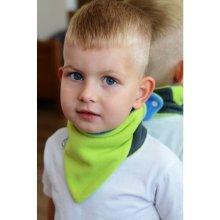 VG detský obojstranný fleecový nákrčník modrolimetkový