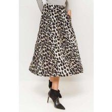 3e32e37cd2f3 Dlhá biela sukňa s leopardím vzorom