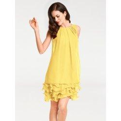 heine TIMELESS koktailové šaty s volánmi žltá od 89 4b809f420f5