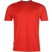 Slazenger Plain T Shirt Mens Cherry Red