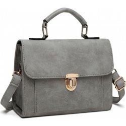 70c235f529e4 Miss Lulu malá dámska aktovková kabelka do ruky Sivá alternatívy ...