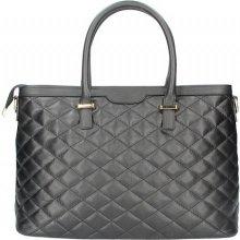 Made In Italy kožená prešívaná kabelka 6810 čierna 59ce578bdaa