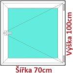 Soft Plastové okno 70x100 cm, otváravé