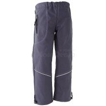 Softshellové nepremokavé nohavice podšité fleecom sivé