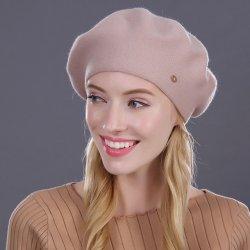e86e2f720 Dámska elegantná baretka z kašmíru a bavlny Biela alternatívy ...