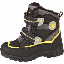 ALPINE PRO Detská zimná obuv Kibbi žlto-čierna