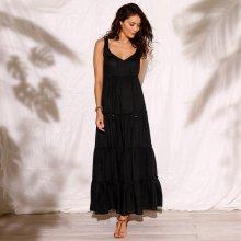 85898a6e07a4 Blancheporte Dlhé volánové šaty čierna