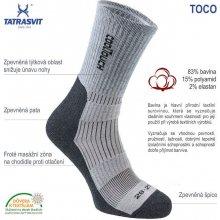 d4e7181fd TOCO športové ponožky s elastickou bandážou antracitová
