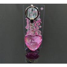 Prívesok na kľúče Diamond Heart I love you 91a85aa316e