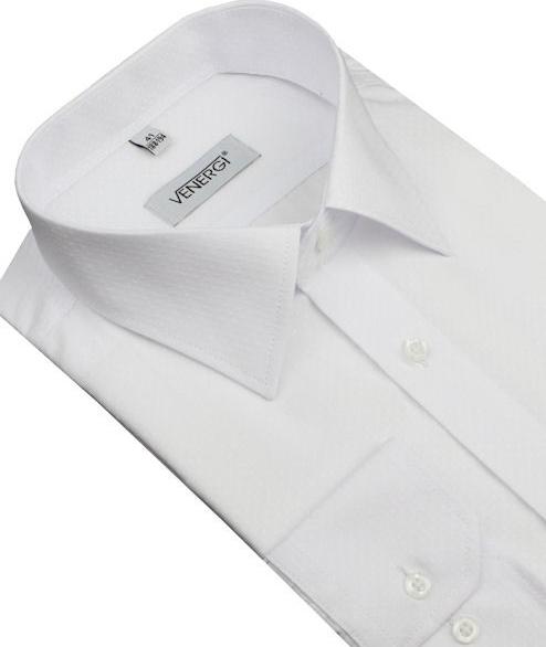 29f9c7f9f44f VENERGI KLASIK Biela obleková košeľa predĺžená od 25