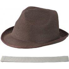 Letný klobúk hnedý s maslovým lemom
