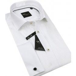 ae085c2692d2 Venti smokingová Slim košeľa na manžetové gombíky Biela 172822800 ...