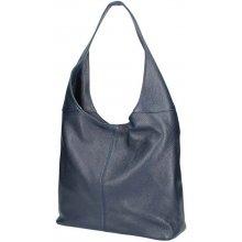 125d02ec35 dámska kožená kabelka na rameno 5308 tmavomodrá