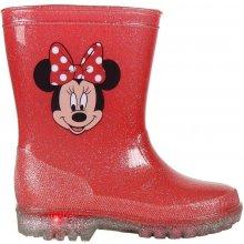 201e04d900 Disney Brand Dievčenské svietiace gumáky Minnie červené