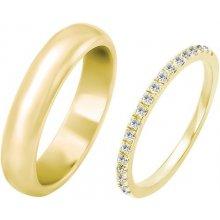 367c2681b Eppi Eternity prsteň s diamantmi a pánsky pologuľatý svadobný prsteň Hao  RW223609