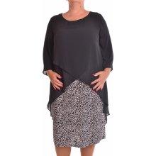 52ebd44ed3f7 Dámske spoločenské elastické šaty so silonovým vrchom čierne