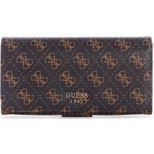 Guess peňaženka Mia Logo File Clutch hnedá ac50fa9ead0
