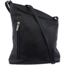 dámska kožená kabelka crossbody V405 V405 čierna 25f6e6ea889