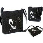 e43a545289 Bertoni kabelka crossbody mačka sa naťahuje na tmavo-šedej