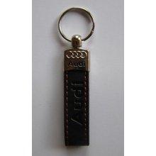 Prívesok na kľúče koženková Audi(čierna)