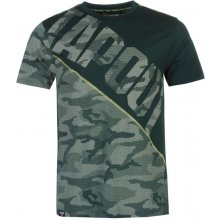 Tapout Camouflage Panel T Shirt Mens Teal