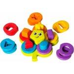 Playgro skladacie puzzle kvetina s tvarmi