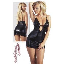 Cottelli Collection Black wetlook mini dress