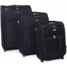 Suitcase 91074 cestovné kufre sada Černá