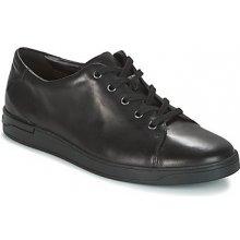 Clarks Nízke tenisky Black Leather čierna