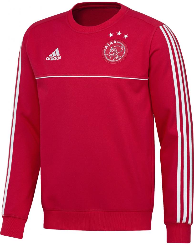 Futbalový dres Adidas Ajax Amsterdam sveter mikina červená pánska ... d6bc09a1b0