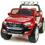 Beneo elektrické autíčko Ford Ranger Wildtrak 4X4 LCD Luxury lakované čalunené sedadlo 24 GHz dvojmiestne červené