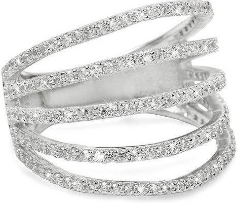 d6f8aec3e Prsteň Brilio Silver Strieborný prsteň so zirkónmi 31G3098 ...