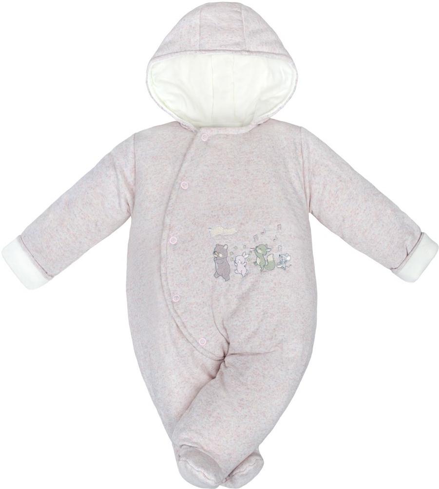 fa8f82eecc8d Dojčenská kombinéza Baby Service Zimná dojčenská kombinéza Animals ...