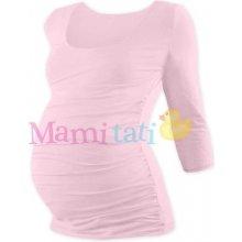 Johanka tehotenské tričko 3/4 rukáv sv. ružová