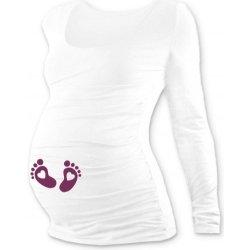 0b23f673a54a tehotenské tričko s potlačou DR biele nožičky od 19