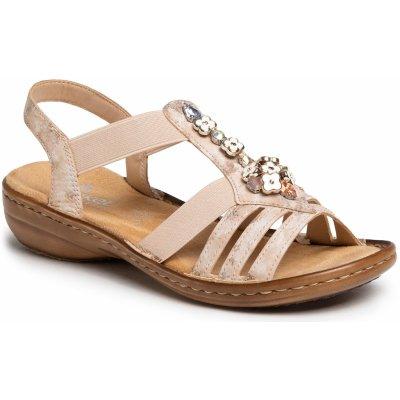 Rieker remienkové sandále béžové/ružové