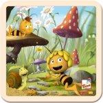 Bino drevené puzzle Včielka Maja
