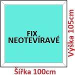 Soft Plastové okno 100x105 cm, FIX neotváravé