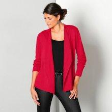 Blancheporte otvorený sveter s cípmi červená