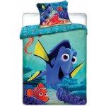Jerry Fabrics obliečky Dory a Nemo 140x200 70x90