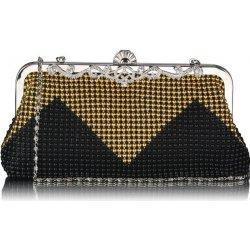 9b072e8888 štrasová spoločenská kabelka čierno- zlatá alternatívy - Heureka.sk