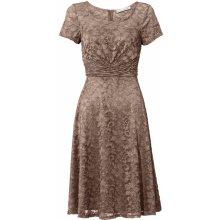 d005be2aa23f heine TIMELESS čipkované šaty s romanticky hravým vzhľadom hnedosivá