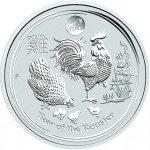 Lunární série II. stříbrná mince 1 AUD Year of the Rooster Rok kohouta 1 Oz 2017 Privy Mark
