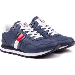 Tommy Hilfiger modré pánske kožené tenisky Lifestyle Tommy Jeans Sneaker Ink dc6d6c3f3b