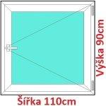 Soft Plastové okno 110x90 cm, otváravé