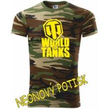 Dětské tričko World of tanks camouflage brown