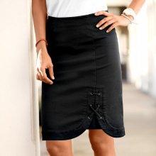 Blancheporte dámska sukňa s detailom šnurovania čierna