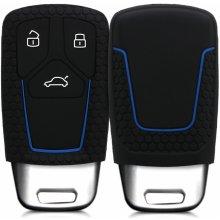 Kľúčenka Silikónový obal Audi - čierna modrá 4a644dd0c8e
