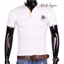 Športové POLO tričko bielej farby ETTE 6-8014