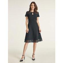 262bb7005165 heine TIMELESS koktejlové šaty s transparentnými detailmi čierna